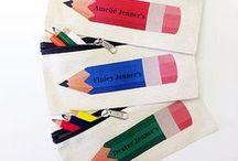 school is cool / Vintage school supplies + colorful school supplies etc