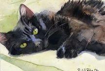 Cat Art / cat related art / by Sandra Gibbs