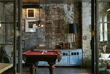 Game Room - Restoration Chic / Want to create a Restoration look in your Home Entertainment space? Check out these great products and ideas!