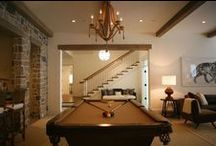 Game Room - Transitional. A little bit of something for Everyone! / Become a transitional-style expert with these products that are in between contemporary and traditional style pieces! #transitional