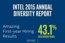 Diversity and Social Responsibility / Corporate social responsibility plays an important role at Intel. From our commitment to conflict free minerals, to our belief that a fully diverse and inclusive workplace is fundamental to our ability to innovate. Take a look at why we consider it so important and the various things we do to help make an impact.