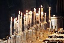 Lighting is Everything / Beautiful candles, white lights, and lighting fixtures