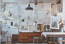 Art Studio / Art studio design and organization inspired by contemporary artists and greats in art history.