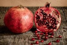 Pomegranates / Pomegranate: recipes, paintings, cocktails, decorations, tablescapes and patterns.