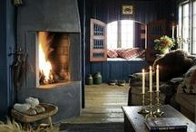 Living Room / Ramshackle chic looks for my cabin.