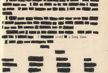 """Erasure Poems / """"Like writing with my eyes instead of my hands"""" - Mary Ruefle"""