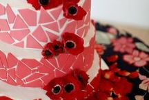 Red n Pink pt.1b ~ Cakes / Beautiful cakes in shades of red and pink.