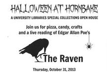 Halloween at Hornbake / A collection of illustrations from Rare Books and Special Collections at University of Maryland's Hornbake Libary and all things Halloween!  Come and celebrate Halloween at Hornbake Thursday, October 31st from 12-4. Join us for food, crafts, spooky items from out collections, and a reading of Edgar Allan Poe's The Raven!