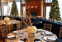 Winter Wonderland   Festivities Holiday Event Theme / Our designer's inspiration for this theme is based on the classic Tiffany blue with silver accents as well as the possibility of using the more basic colors of blue and white.