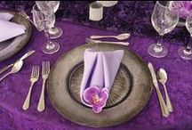 2014 Color of the Year   Radiant Orchid & Festivities Designs / Radiant Orchid named the 2014 color of the year. If you want it at your event or wedding, you go it! [PANTONE 18-3224]