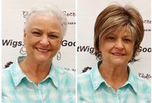 Clients Wearing Wigs / Check out our amazing, beautiful clients!  Almost all of these photos have been sent to us by our clients.  Everyone in these photos is wearing a wig or hair piece!