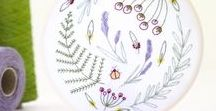 Botanical Embroidery / Beautiful botanical embroideries inspired by flora of all shapes and sizes.