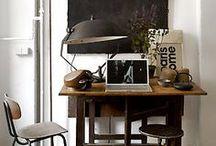 home: industrial living / rough edges - masculin - metals - vintage - industrial furniture - design - whites - greys - blacks - fresh colours