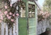 """OPEN SESAME....gates, garden doors, garage doors, front doors, back doors... / This started out as a collection of ideas for various doors, especially garage doors.... but look what it has """" Morphed"""" into... Some Boards have minds of their own! / by Annie Guthrie"""