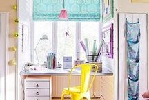 Creative work space / Home office and studio inspirations