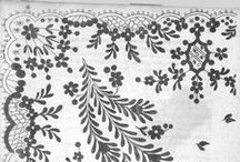 Clothing - Embroidery and Print Patterns / Plates detailing embroidery patterns and fabric print patters. Date plate was published can be found in the pin description.