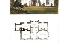 Building Floor Plans / Floor plans for buildings that would have been built during the Regency.