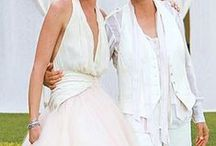 White Wedding Suits for Women / suits appropriate for encore brides and lesbian brides