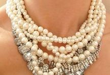 Jewelry / A board of jewelry by me, for me. Love pearls....the more the better.