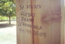 Citas callejeras, carteles con erratas... todo está en la calle. / Carteles que están mal escritos, errores ortográficos, citas callejeras, pintadas,graffittis... todo vale. ¡Búscalos en la calle y compártelos! estudiemos y analicemos nuestras calles lo que escribimos, lo que pensamos, lo que pintamos.