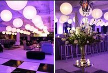 Black, White and Purple / color-inspired very contemporary lesbian wedding