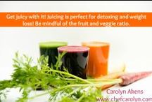 Detoxing For Optimal Health with Carolyn / Are you ready to REPLENISH - RENEW - RECHARGE? A detox will release the toxins your body takes in day-to-day. That's not just food either – we're talking metals, chemicals found in cleaning products, drinks, etc. Let me show you how! http://www.chefcarolyn.com/winter-detox.html