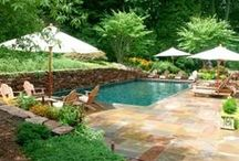 Backyards & Pools / Outdoor living space - backyard landscaping, pools, furniture, she sheds, entertaining.