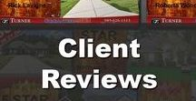 Client Reviews / Here is just a few reviews and testimonials from Turner Real Estate Groups Clients.  Are you interested in selling your NorthShore Property Call us at 985-626-1313 or visit SellWithWayne.com