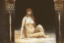simbolismo, Redon , Klimt, prerafaelismo / by Carlos Leiro