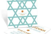 Mitzvah Inspiration / Different ideas for bar and bat mitzvah invitations from other vendors.