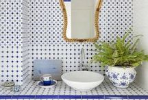 Baths - mad for mosiacs / We are mad about mosaics in the bathroom. What do you think? Contact our showroom today to set an appointment with one of our skilled professionals to start designing for your bathroom project! 865.329.3290 or email info@tilesensations.net