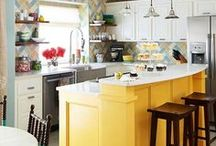 Kitchens - tile with color