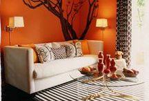 Orange / Furniture, decor and design accents in orange and tangerine.