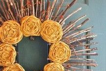 Wreaths / Great ideas for DIY wreaths to spruce up your front porch!