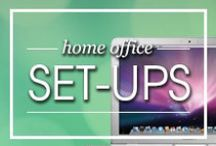 Home Office Set-Ups / Working from home? Make sure you have the proper set-up to ensure effective productivity.