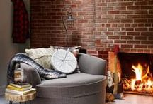 Cabin Fever / Natural wood texture, soft leather, plaid blankets and cozy knits.