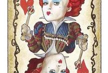 All Things Alice Playing Cards / Playing cards featuring Alice in Wonderland / by Dona Deam
