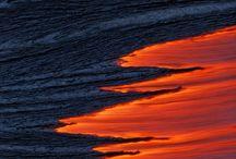 lava + volcano