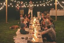 Parties: Generic/Hospitality / Let's bring back spontaneity and simple dinner parties. The true heartbeat of hospitality should focus on the people....sharing our lives, creating lasting memories and opening our homes. <3