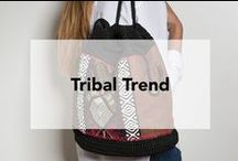 The Sak   Tribal Trend / Go global with the latest trend using tribal printed graphics. Wear the trend in a subtle way with our popular slide featuring tribal fabrics.