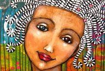 Art: Suzan Buckner / Bright, graphic--happy, happy! / by Christi