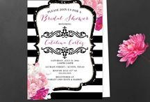 Bridal Shower Invitations / Bridal Shower, Wedding Invitations, decorations, backdrops, photography backdrops, photography background.