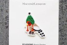 Macon et Lesquoy / Fun and elegant patches and pins.