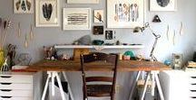 Work Space / Work space/ studio space inspiration