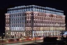 Hotel Grande Bretagne  / With breathtaking views of the famed Acropolis and Parthenon, regal Constitution Square and the Parliament, lush Lycabettus Hill or the original Olympic Stadium, the multi-awarded 5 star Hotel Grande Bretagne offers an unrivalled perspective of Athens' mythical history.