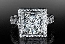 Princess Cut Diamond Engagement Rings / Browse our collection of princess cut engagement rings from the hottest bridal designers.   / by Alson Jewelers