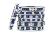 Diamond and Sapphire Wedding Bands / Browse our collection of diamond and sapphire wedding bands.  Call 216-464-6767 for more information.
