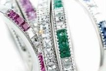 Precious Gemstone Wedding Bands / Browse our collection of precious gemstone wedding bands, including Sapphire, Emerald, Ruby and other precious color gemstones.  Call 216-464-6767 for more information.