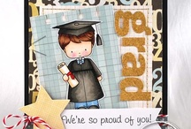 ConGRADulations / by There She Goes Clear Stamps