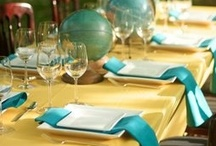 teal & sunshine ♥ / Cheery-colored wedding ideas